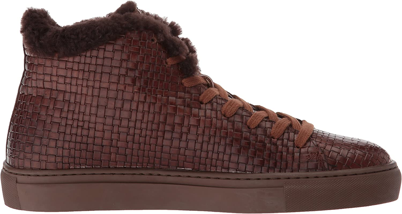 Aquatalia Mens Alonzo Embossed Leather Sneaker