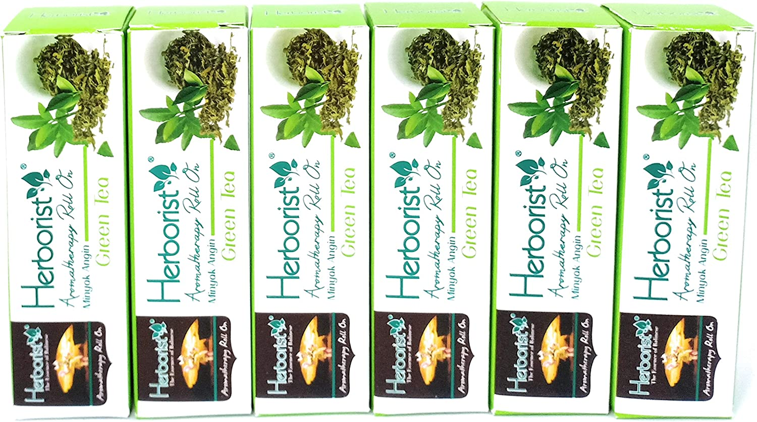 Herborist Aromatherapy Roll on Oil - Green ml Pack 6 10 of Over item handling ☆ Tea Complete Free Shipping