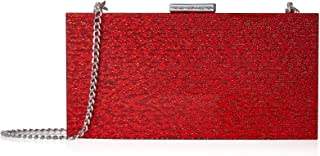 French Connection Women's Baxter Lucite Clutch, Red