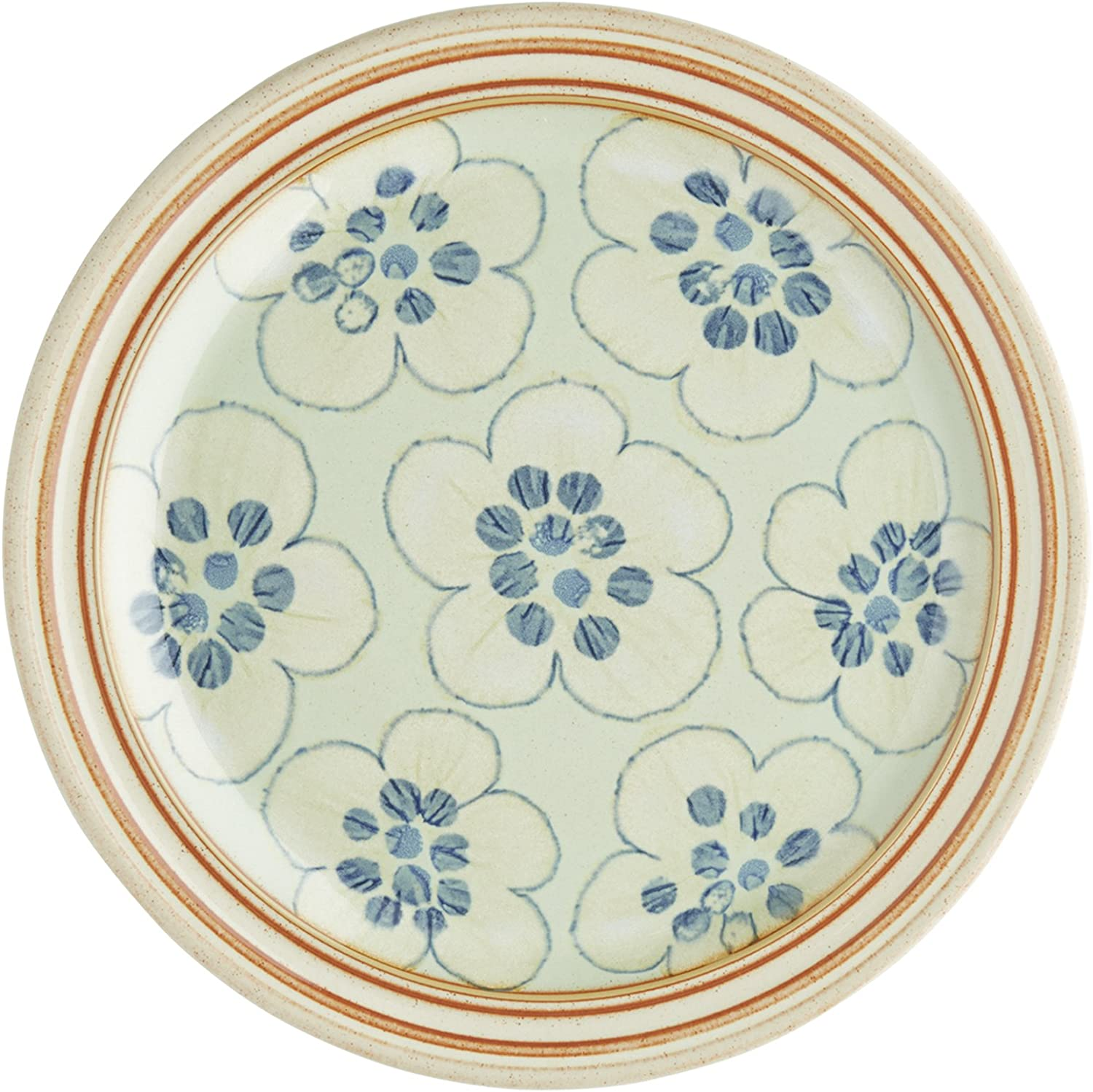 Denby USA Heritage 4 Piece Orchard Place setting Dinnerware Set, Multicolor Accent Salad Plate