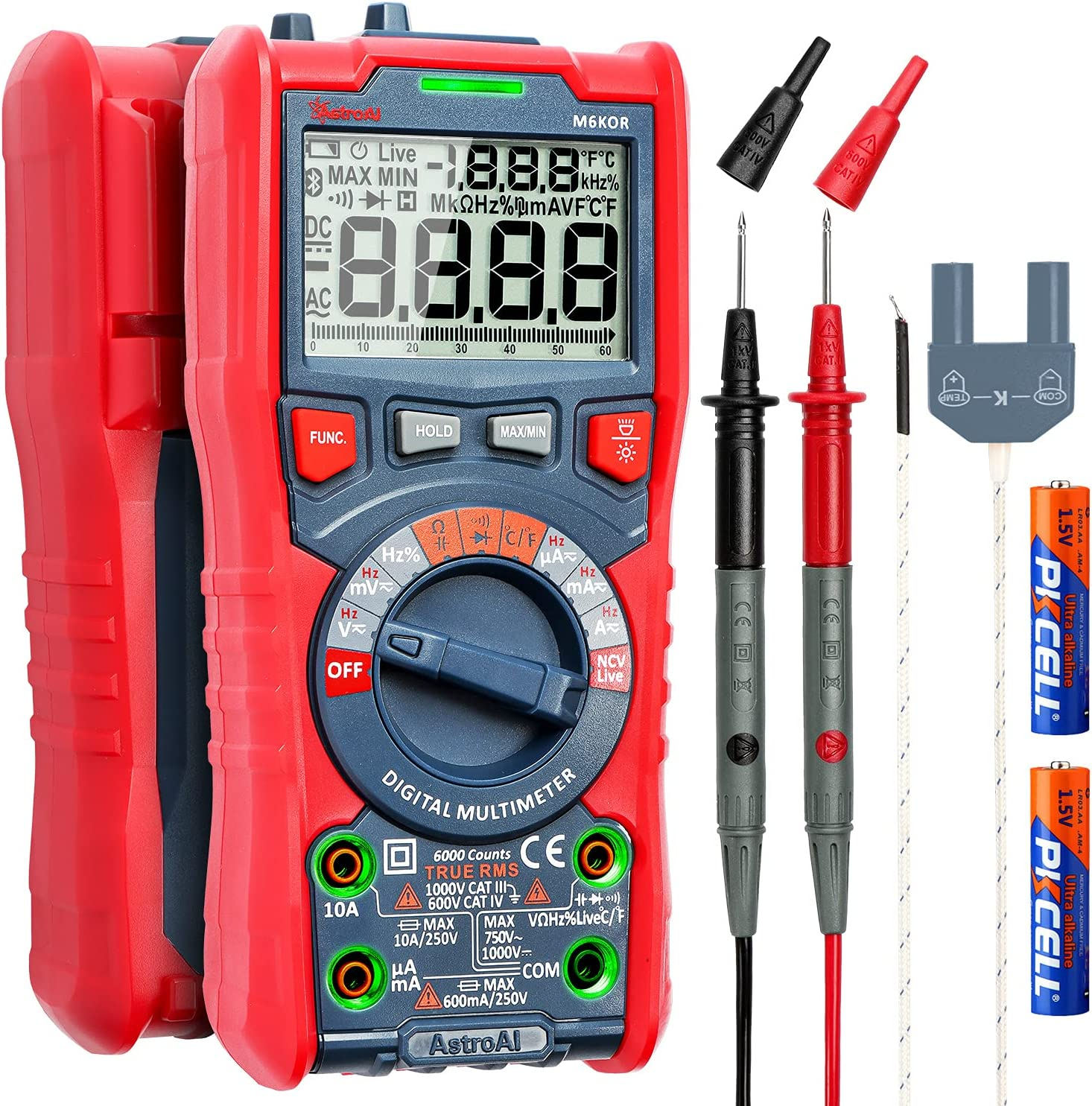 AstroAI Digital Multimeter, TRMS 6000