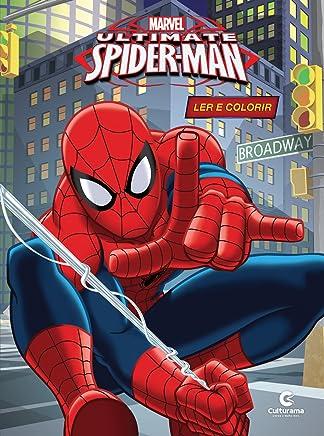 Livro Gigante Ler e colorir - Homem Aranha