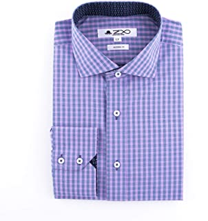 Lewis Long Sleeve Pure Cotton Dress Shirt for Men - Modern Fit with Spread Collar