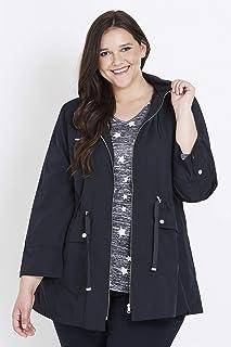 Beme Long Sleeve Hooded Rain Jacket Navy 20 - Womens Plus Size Curvy
