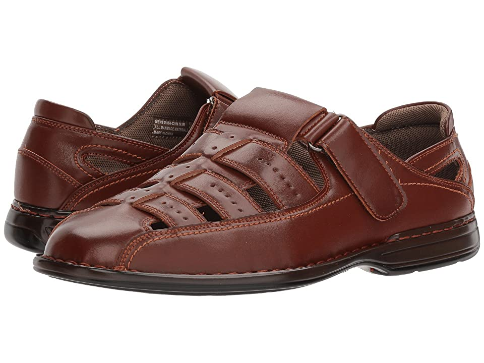 Stacy Adams Bridgeport Fisherman Sandal (Cognac) Men
