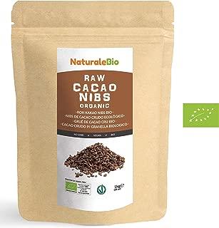 Nibs de Cacao Crudo Ecológico 1 kg   100% Puntas de Cacao Bio, Natural y Puro   Cultivado en Perú a partir de la planta Theobroma cacao   Rico en antioxidantes, minerales y vitaminas   NATURALEBIO