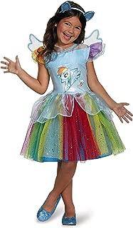 Rainbow Dash Tutu Deluxe My Little Pony Costume, Medium/7-8
