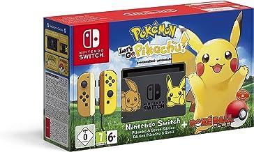Nintendo Switch Pikachu & Eevee Edition + Pokémon: Let's Go, Pikachu! + Poké Ball Plus, Consola de video