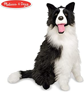 "Melissa & Doug Border Collie Dog Giant Stuffed Animal (Lifelike Plush, 27"" H x 22"" W x 14"" L)"