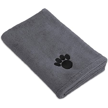 Bone Dry Pet Drying Collection Embroidered Terry Microfiber Towel