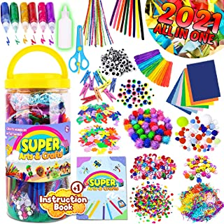 InnoRock Arts and Crafts Supplies for Kids - Assorted Craft Art Supply Kit for Toddlers Age 4 5 6 7 8 9 - All in One D.I.Y...
