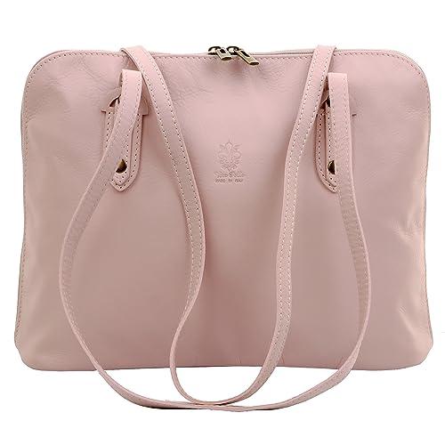 9efa99e8f2f26 Primo Sacchi® Italian Soft Leather Large Long Handled Shoulder Bag Handbag