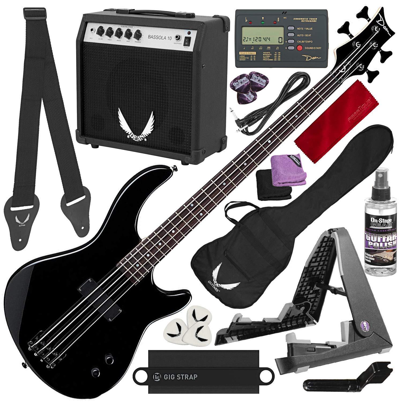 Dean Edge 09 Bass and Amp Pack – Negro Dean Edge 09 Bass Guitar ...