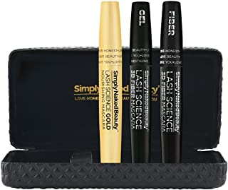 3d Fiber Lash Mascara Gold by Simply Naked Beauty - with Eyelash Enhancer Mascara Base - Waterproof Alternative to False E...