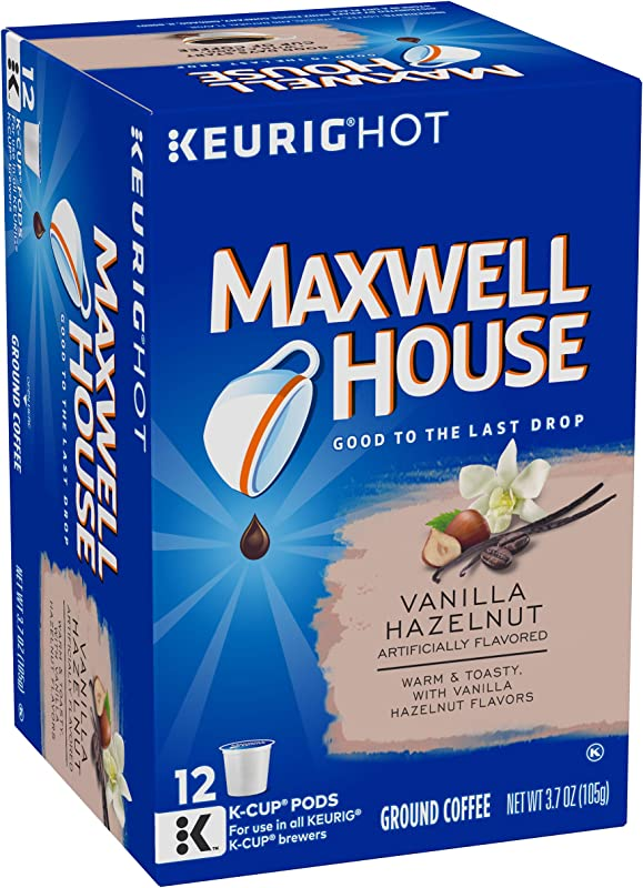 Maxwell House Vanilla Hazelnut Keurig K Cup Coffee Pods 72 Count 6 Boxes Of 12