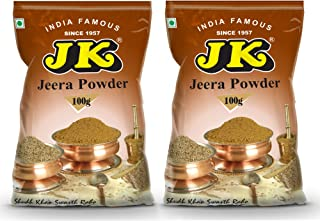 JK CUMIN POWDER 7.05 Oz, 200g (100g x 2 Packs) (Jeera Ground) Non-GMO and NO preservatives!