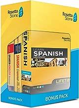 Learn Spanish: Rosetta Stone Bonus Pack Bundle (Lifetime Online Access + Grammar Guide and Dictionary Book Set)