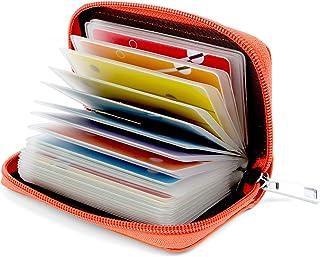 Porta Carte di Credito per Donna Uomo Pelle (Arancione)