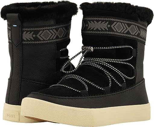 Black Leather/Suede/Faux Fur