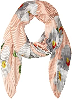 Calvin Klein - Floral Pleated Scarf