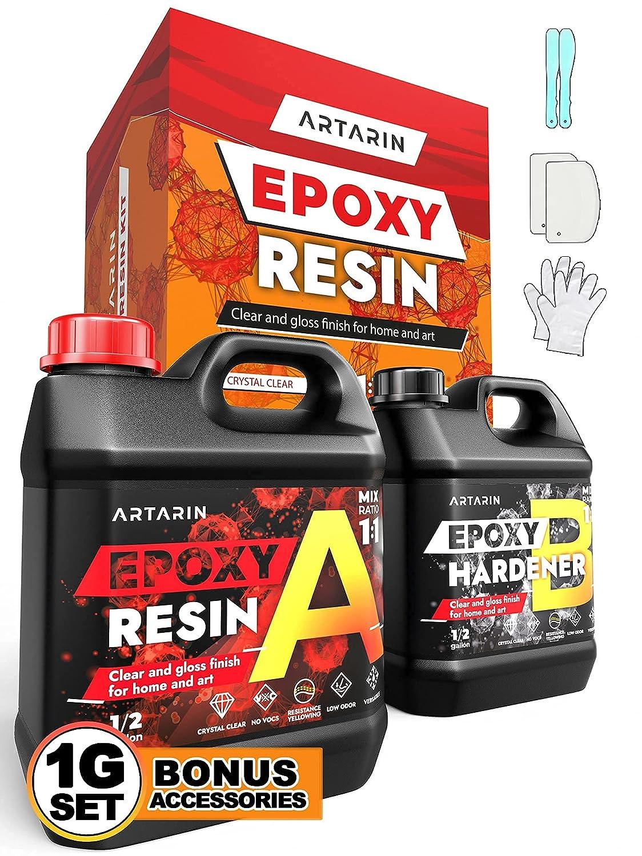 {New 2021} Premium Epoxy Max 52% OFF Resin Max 57% OFF Bulk Kit Gallon Ama - 1 Ratio 1:1