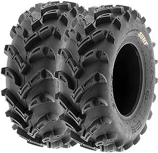 Set of 2 SunF A024 23x8-11 ATV UTV Mud/Trail Tires, 6-PR, Deep Directional Tread