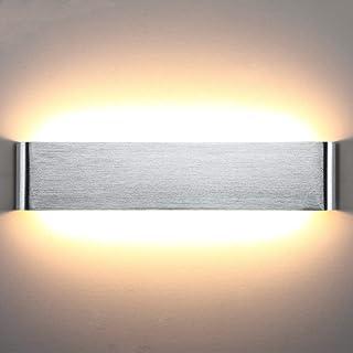 Lightess Applique Murale Intérieur LED 18W 40cm Lampe Murale 3000K Luminaire Mural Moderne IP44 pour Chambre Enfant Salon ...