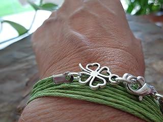 ★ ABBIGLIAMENTO bracciale avvolgente con portafortuna ★ bracciale verde