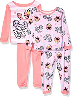 Girls' 4-Piece Cotton Pajama Set