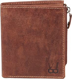 WELBAWT Latest Sleek and Stylish 100% Genuine Leather Bi-Folded Wallet for Men (Wooden Brown)
