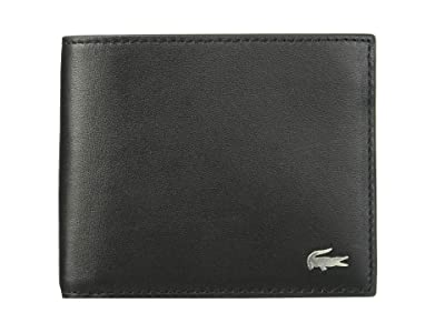 Lacoste Large Billfold and Coin Wallet (Black) Wallet Handbags