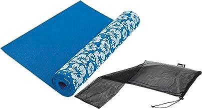 Tunturi 14TUSYO001 Floral Print Yoga Mat - Blue, 173 cm