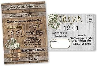 Rustic Barn Wedding Invitations Calla Lily Set of 30