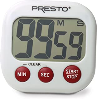 Presto 04214 Electronic Big Digital Timer, White