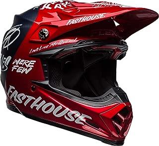 Bell Moto-9 Flex Off-Road Motorcycle Helmet (Fasthouse DITD Matte/Gloss Red Navy, Medium)