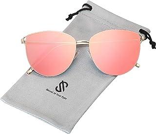 SOJOS Lunettes de Soleil Œil de Chat Miroités UV Protection SJ1085