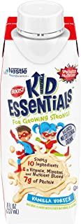 Boost Kid Essentials Nutritionally Complete Drink Vanilla 8 Ounce Box (Pack of 16) (Packaging May Vary)