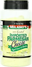Milano's Parmesan Cheese Jars, Imported Grated, 16 Ounce