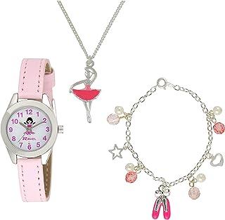 Ravel Little Gems Kids Ballerina Watch & Jewellery Gift Set for Girls R2208