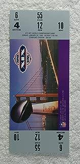 Super Bowl XIX (1985) - Replica Game Ticket with Rigid Holder - San Francisco 49ers vs Miami Dolphins