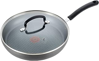 T-fal E76598 Ultimate Hard Anodized Nonstick 12 Inch Fry Pan with Lid, Dishwasher Safe Frying Pan, Black