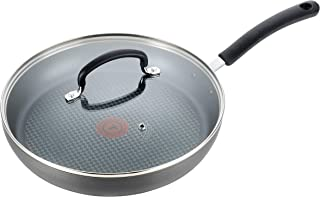 T-fal E76507 Ultimate Hard Anodized Nonstick 12 Inch Fry Pan with Lid, Dishwasher Safe Frying Pan, Black