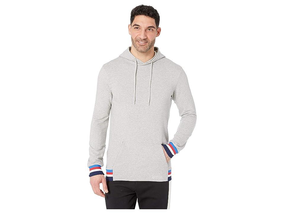 ASICS Tiger Logo Sweat Pullover Hoodie (Mid Grey Heather) Men