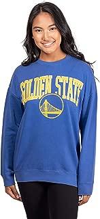 NBA Women's Extra Soft Fleece Distressed Oversized Pullover Sweatshirt