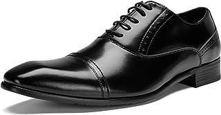 [神戸リベラル]シワになりにくい スプリットレザー 革靴 ビジネスシューズ 内羽根 メンズ LB308