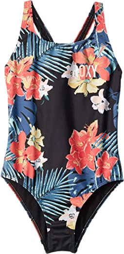 Island Trip Printed One-Piece (Big Kids)