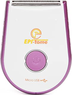 "Epitome ""Mini Bomber"" USB Charging Travel Portable Hypoallergenic Sensitive Cordless Wet or Dry Body Ladies Cute Little Shaver"