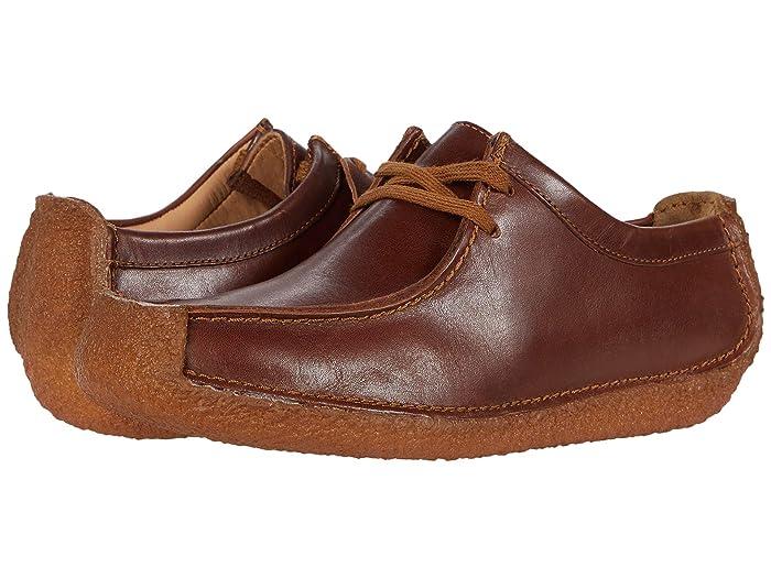 70s Shoes, Platforms, Boots, Heels Clarks Natalie Chestnut Leather Womens Shoes $105.00 AT vintagedancer.com
