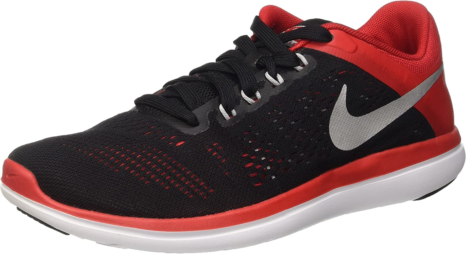 Nike Men's Flex 2016 Running shoes, Black (Black   Metallic Silver-University Network), 6 UK