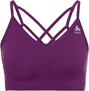 ODLO Women's Sports Bra Seamless Soft Sports Bra, Womens, Sportsbra, 130601, Charisma - Grey Blend, M